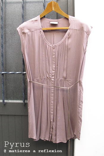 Tunique top Pyrus London robe Mesa taupe