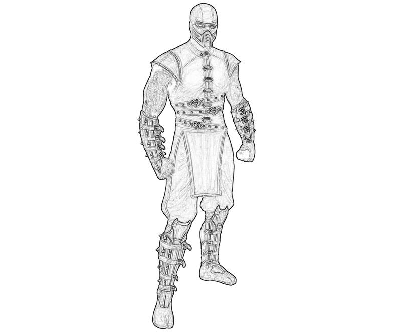 Printable Mortal Combat Noob Saibot Black Coloring Pages title=