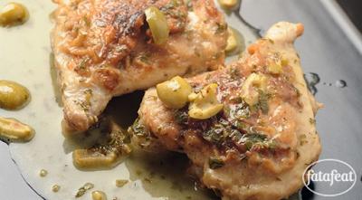 دجاج بصلصة الزبدة والليمون