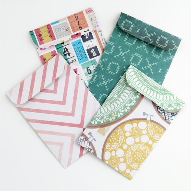 DIY SCRAPBOOK PAPER POCKET ENVELOPE. Gathering Beauty