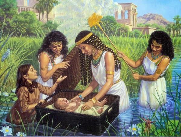 Ratu Hatshepsut Mengambil Musa Di Sungai Nil