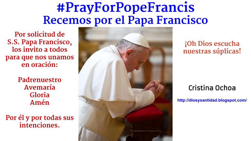 Rezar por Papa Francisco