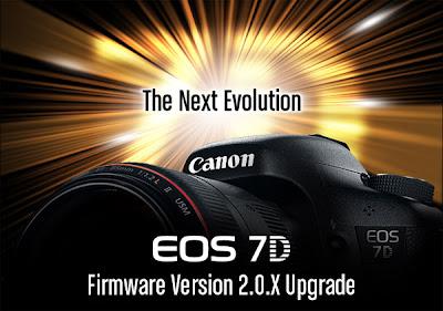 Fotografia della Canon EOS 7D con il firmware v. 2.0.0