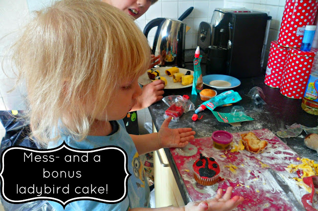 messy fun cooking with kids!