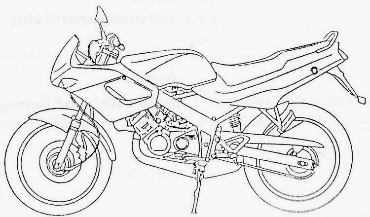 Mewarnai Gambar Moto