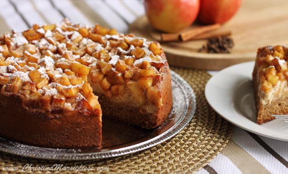 Scientifically Sweet: Spiced Apple Cream Cheese Coffee Cake