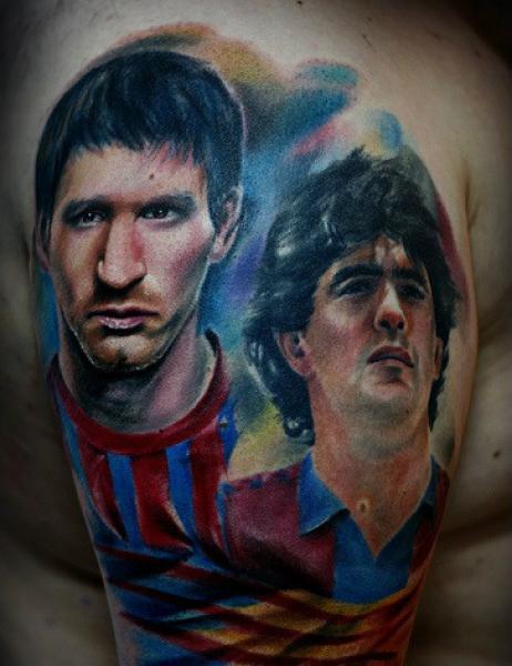 Tatuaje Messi y Maradona