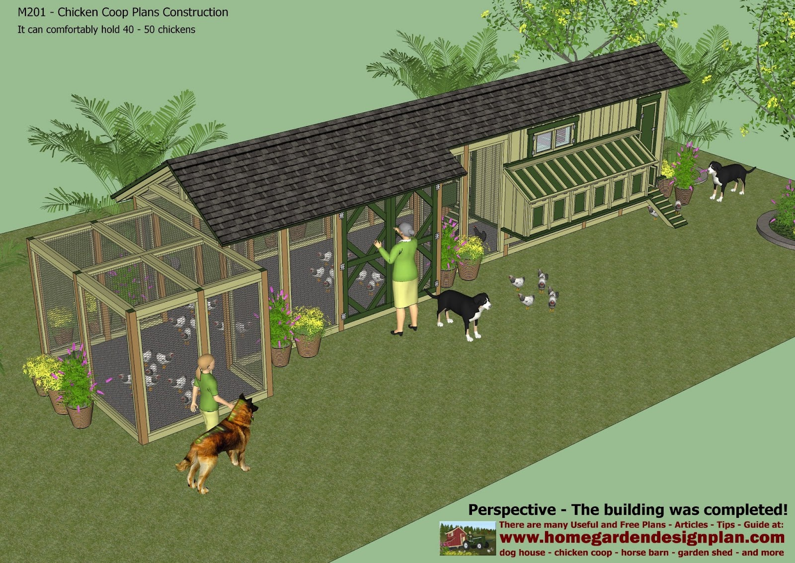 Chicken House Plans For 50 Chickens Home Garden Plans M201  Chicken Coop Plans Construction
