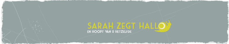 Sarah zegt hallo