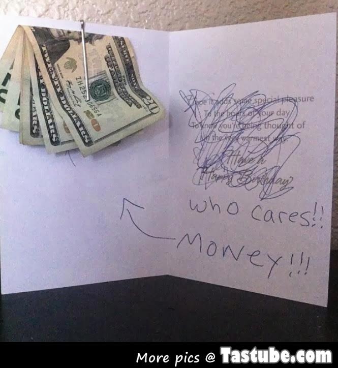 Who Cares money