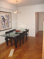 nyc penthouse - dining room before
