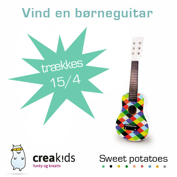 creakids give away børneguitar