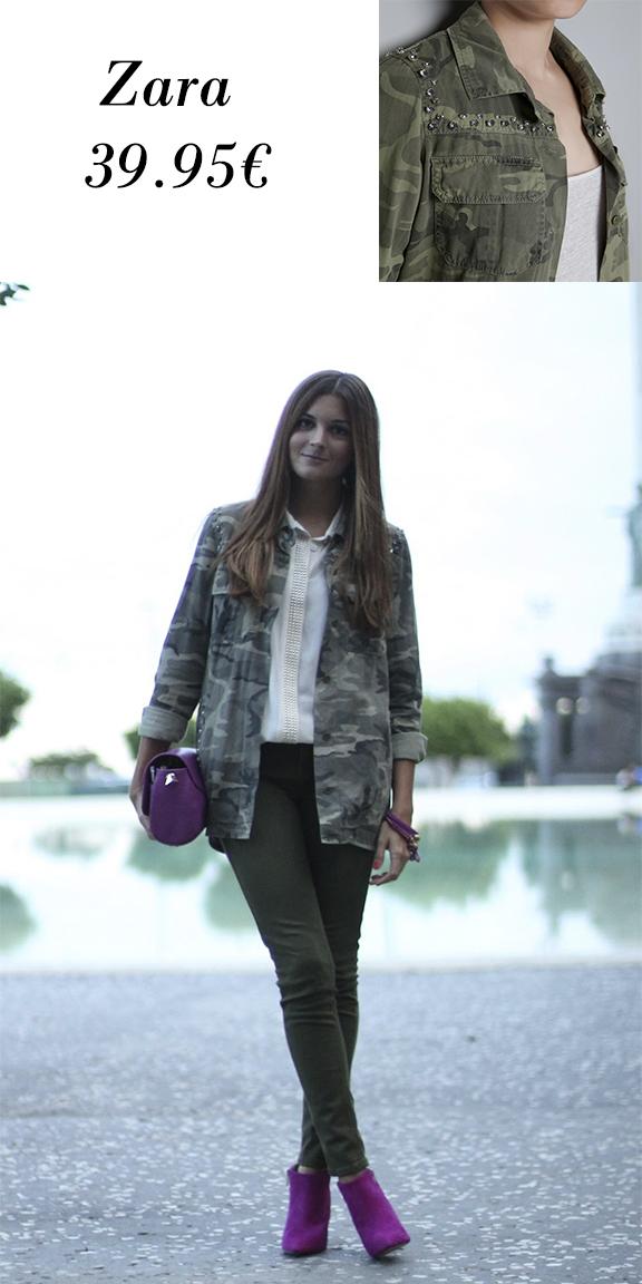 Camisa camuflaje Zara y look con ella de Marilyn´s Closet