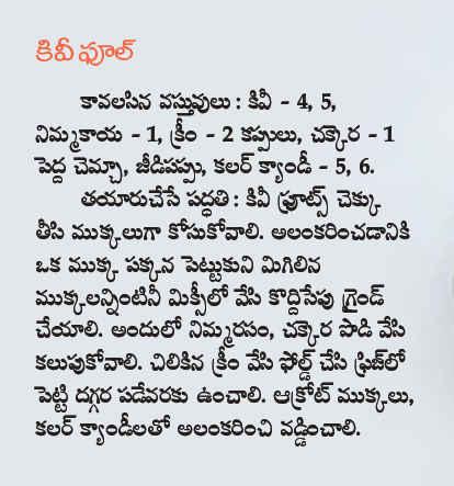 Telugu web world kiwi fool sweet ice cream telugu recipe kiwi fool sweet ice cream telugu recipe ccuart Images