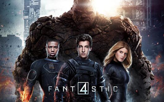 Cartel promocional de Cuatro Fantásticos (2015)