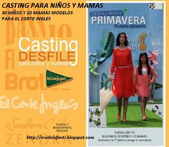 CASTING INFANTIL NIÑOS Y MAMA MODELOS