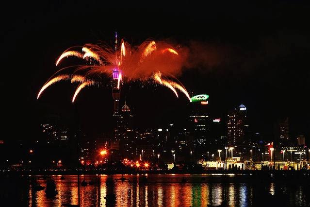 Fuegos Artificiales, año nuevo 2014, Nueva Zelanda