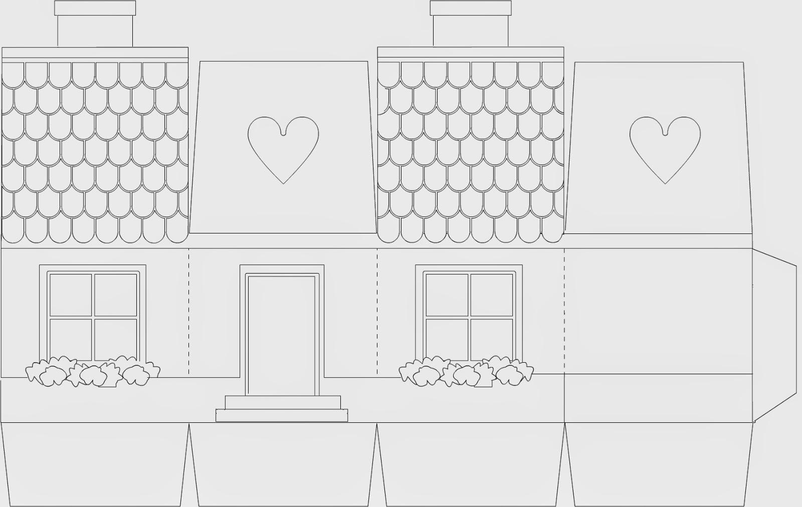 Макет дома из бумаги схемы