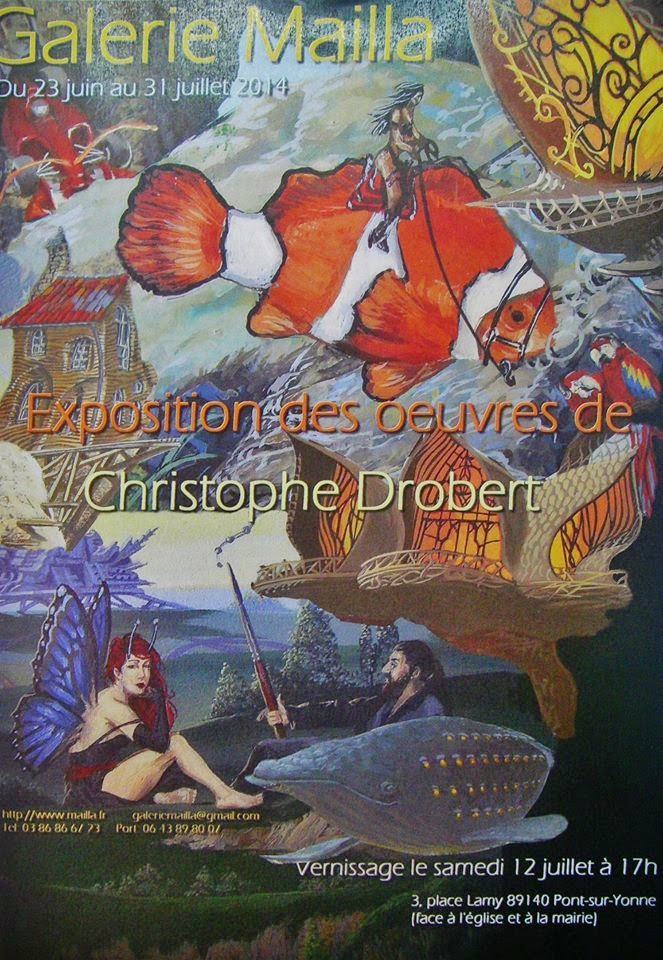 exposition galerie Mailla Christophe DROBERT