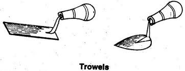 trowels hand moulding tool