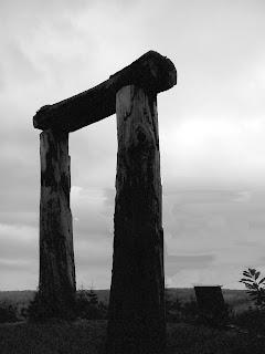 Stonehenge 'cradle' in the visitors car park