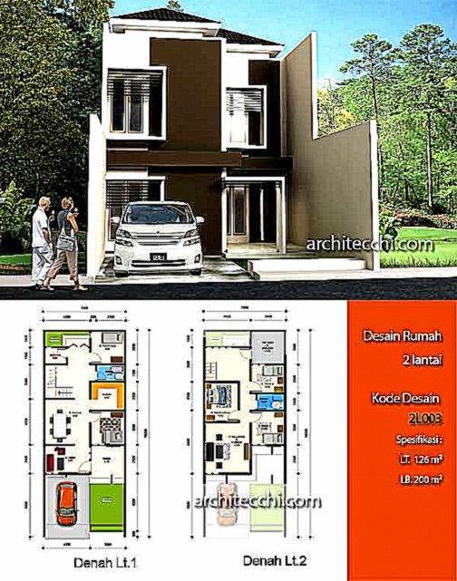 Gambar Denah Rumah Minimalis Modern 2 Lantai 2015  Lensarumah