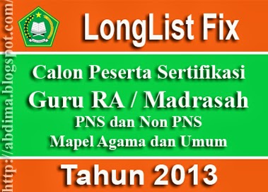 Long List Fix Kemenag