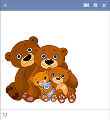 Bear family sticker for Facebook