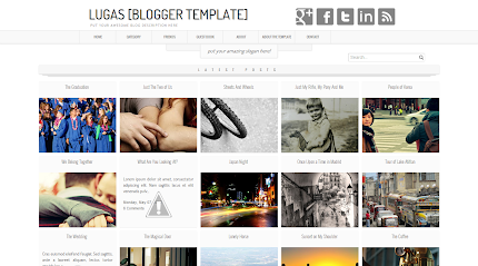 Lugas Blogger Template Blog Krizeer