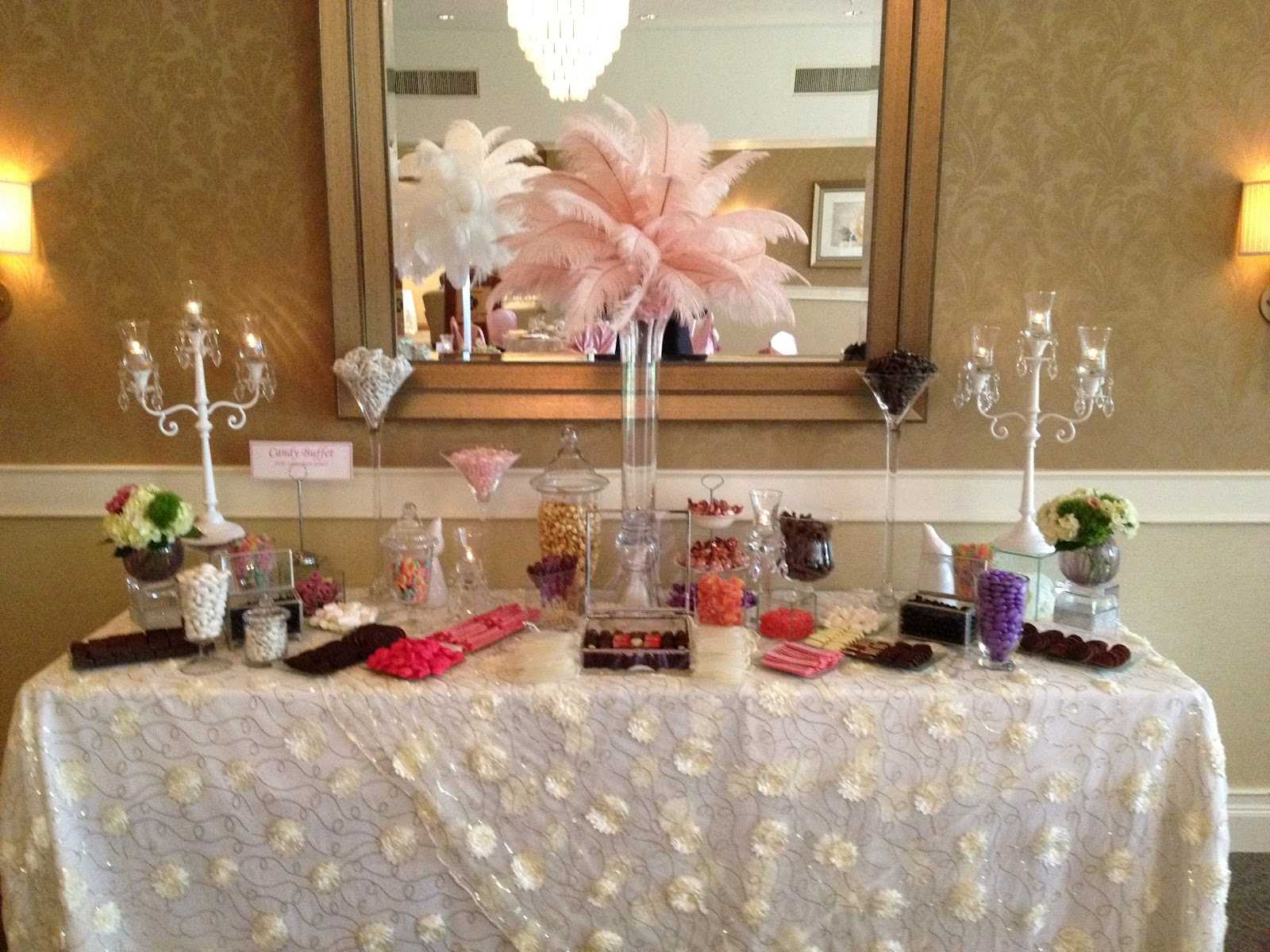 buffet table decorating pictures photograph pink and white