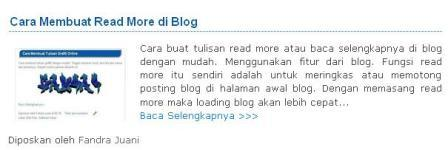 cara membuat auto read more