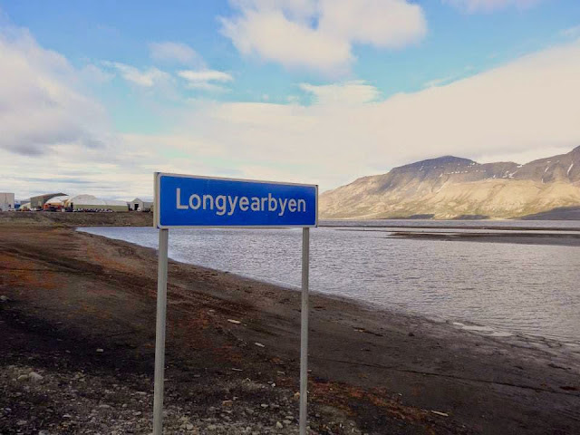 Longyearbyen Town Border Sign