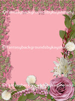 Pink floral background pack digital scrpabooking papers