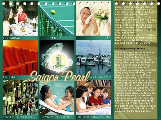 Thue can ho Saigon Pearl 2 phong ngu
