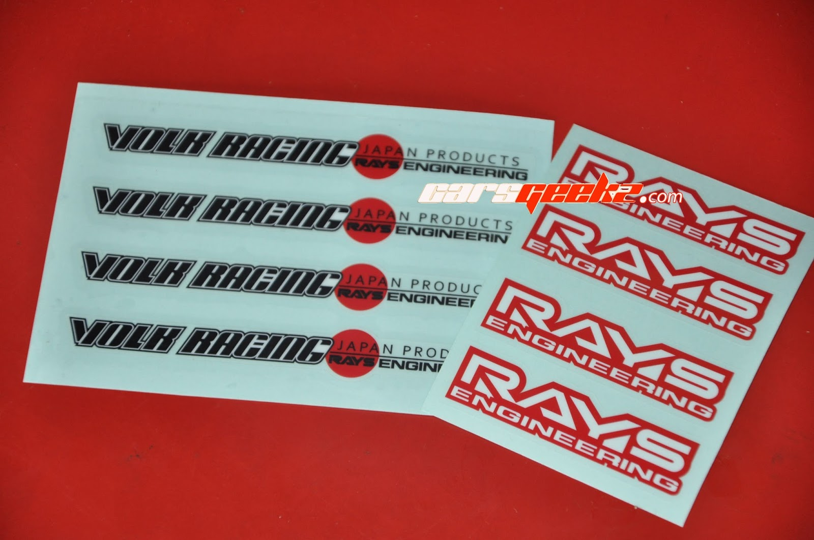 Volk Racing Japan Product and Rays Engineering Volk Racing Japan Product and Rays Engineering Sticker