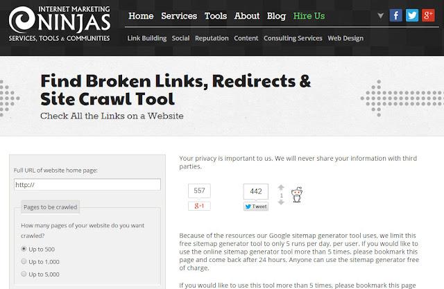 Internet Marketing Ninjas SEO Tools