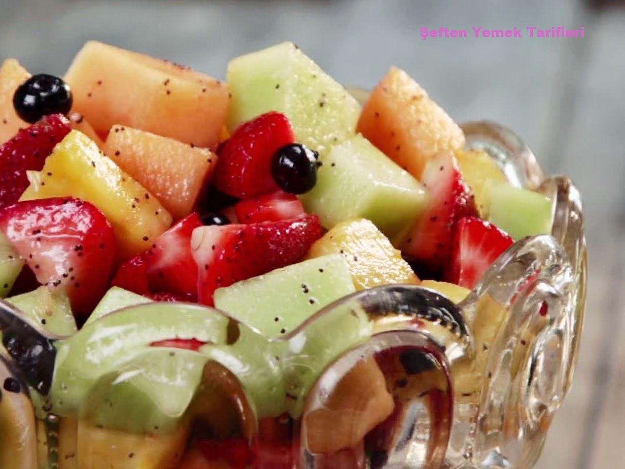 ballı haşhaşlı  meyve salatası