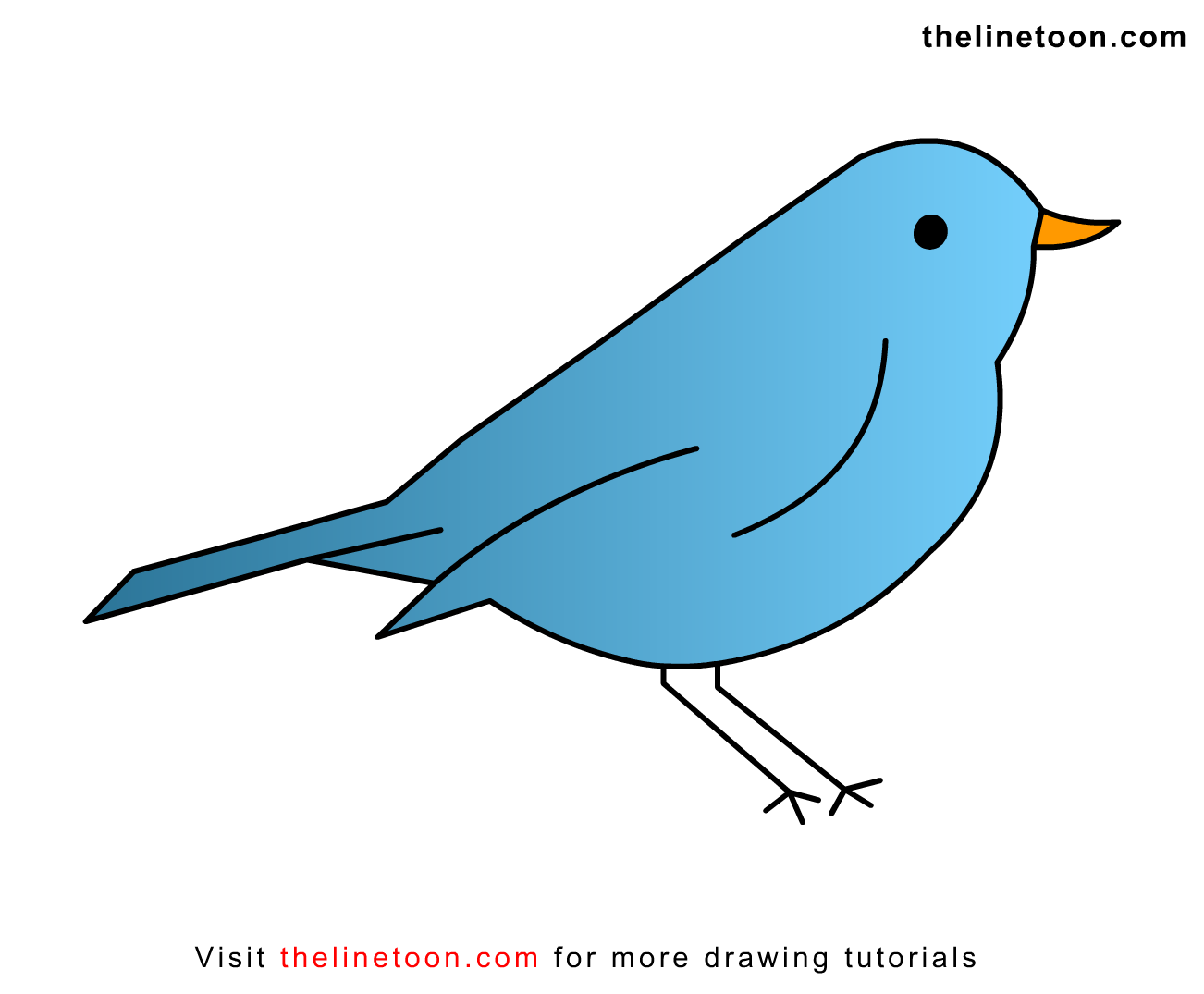 Simple Bird Drawing For Kids