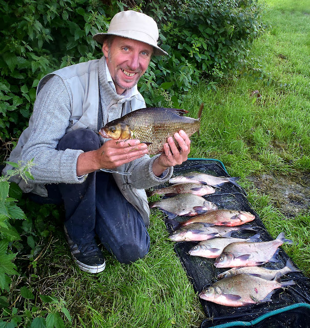 A good bag of Coventry Canal bream and a hybrid