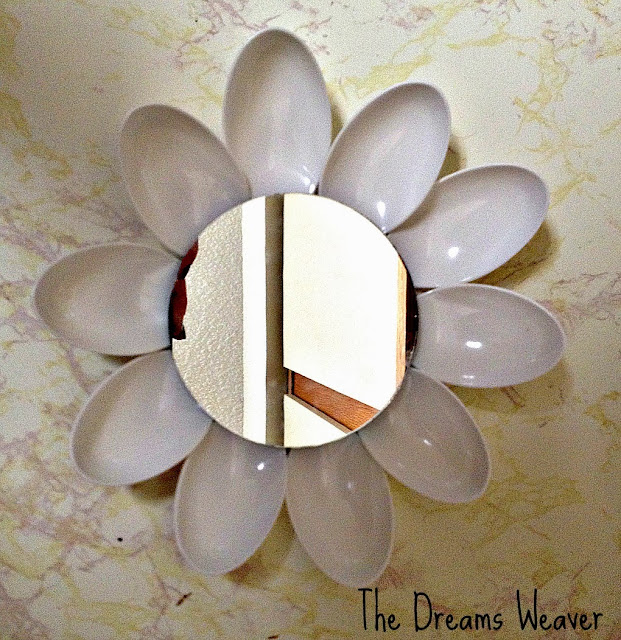 Upcycled Plastic Spoon Sunburst Mirror~ The Dreams Weaver