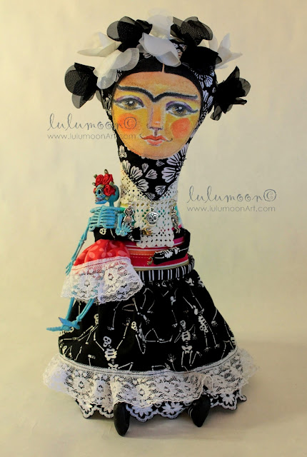 DayOfTheDead-FridaKahlo/OOAK-art-doll