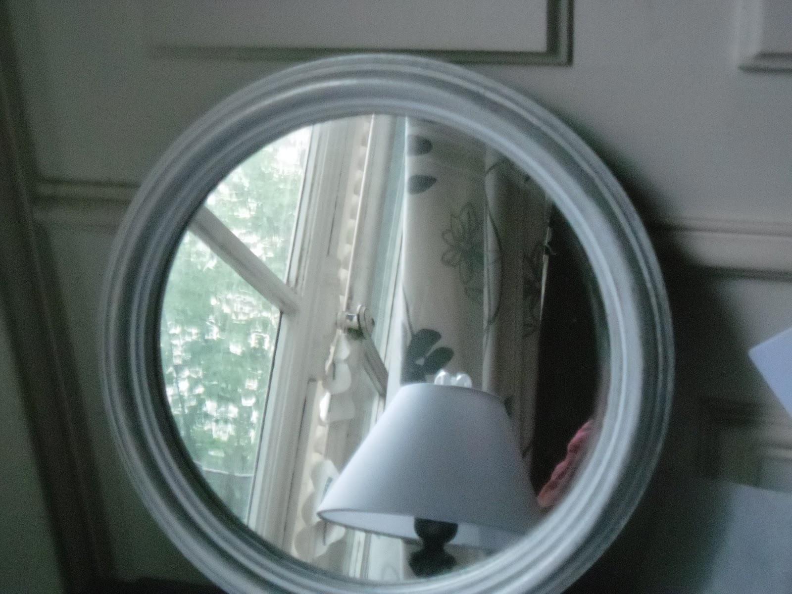 L 39 atelier des couleurs du temps miroir rond en bois style for Miroir blanc rond