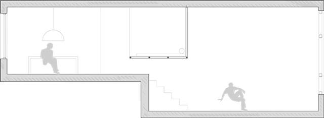 hanging bed room section