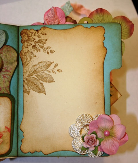 How To Make Beautiful Book Cover : Shabby beautiful scrapbooking vintage fairy file folder