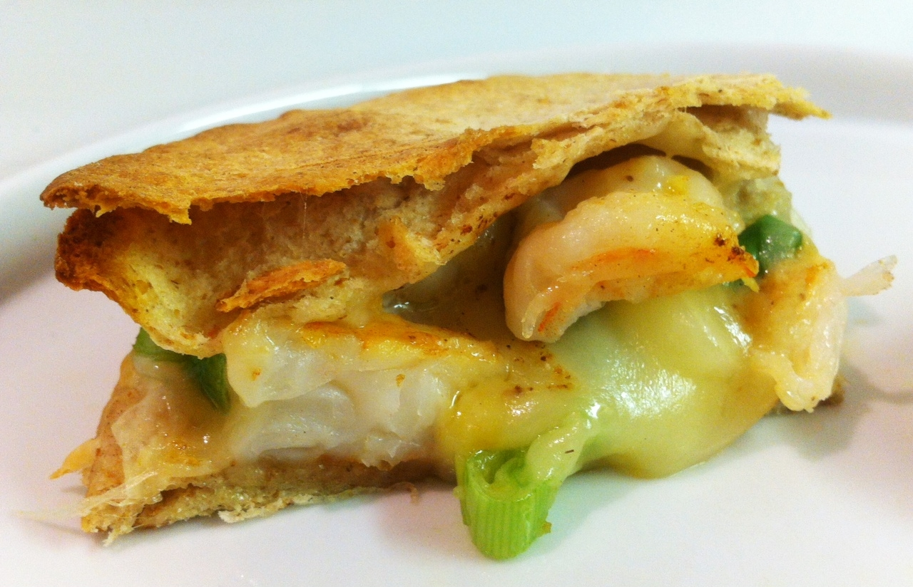 Tequila Shrimp And Asadero Quesadillas Recipe — Dishmaps