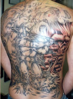 best full back viking tattoos