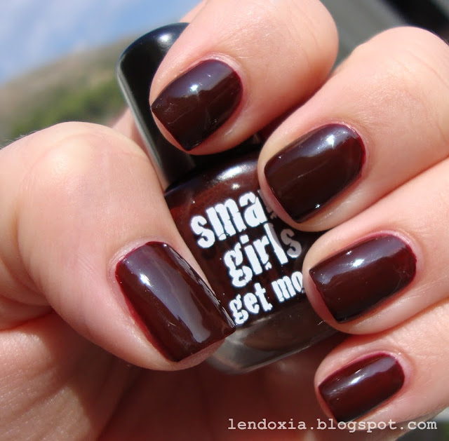 smart girls get more brown nail polish