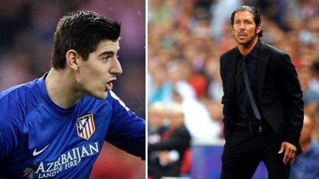 سيموني: كورتوا سيشارك مع اتلتيكو مدريد ضد تشيلسي