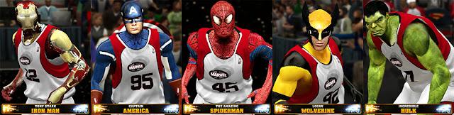 NBA 2K13 Marvel Superheroes Team Mod