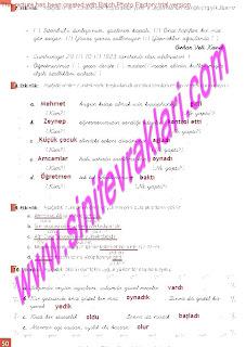 8.Sinif Turkce Enderun Yayinlari Calisma Kitabi Cevaplari Sayfa 50